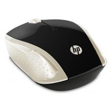 myš HP 200 Wireless Mouse Silk Gold, černo-zlatá