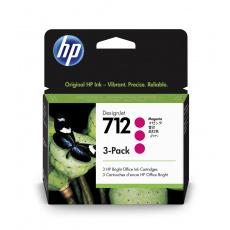 HP 712 Ink. náplň purpurová, trojbalení; 3ED78A
