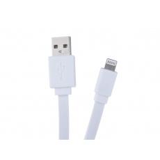 Kabel AVACOM LIG-120W USB - Lightning, 120cm, bílá