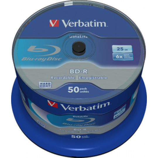 VERBATIM BD-R SL (6x, 25GB),NON-ID, 50 cake
