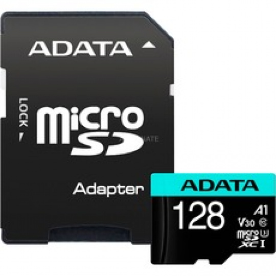 ADATA MicroSDXC 128GB U3 V30S 100/80 MB/s + adapter