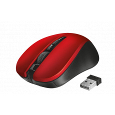 myš TRUST Mydo Silent Click Wireless Mouse - red (tichá myš)