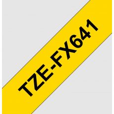 TZE-FX641, žlutá / černá, 18mm