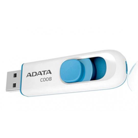 16GB USB ADATA C008  bílo/modrá (potisk)
