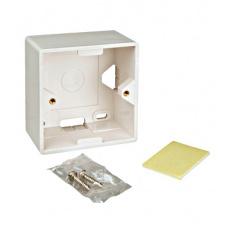 Box na omítku pro zásuvky HSED0xUWxS, HSEDx2UWxF, RAL 9010