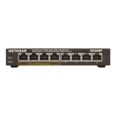 NETGEAR 8 Port Gigabit Ethernet Unmanaged Switch with 4-Port PoE, GS308P