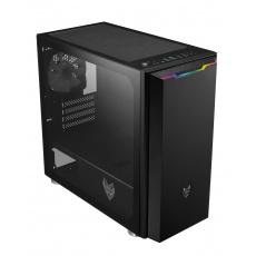 FSP/Fortron ATX Micro CST311 Black, průhledná bočnice