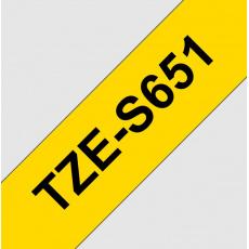 TZE-S651, žlutá/černá, 24mm