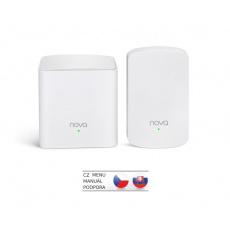 Tenda Nova MW5 (2-pack) WiFi AC1200 Mesh system Dual Band, 2x GLAN/GWAN, další 1x LAN, SMART CZ app