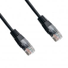 DATACOM Patch cord UTP CAT5E 1,5m černý