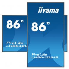 "86"" iiyama LH8642UHS-B1: IPS, 4K UHD, 500cd/m2, 18/7, LAN, Android 8.0, černý"