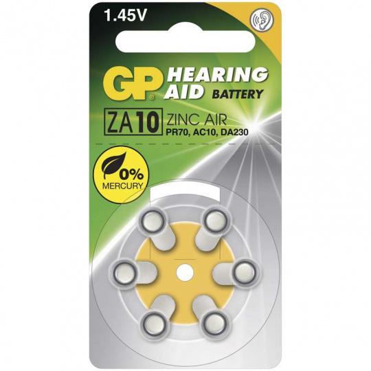 GP ZA10, 6ks, baterie do naslouchadla