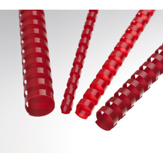 Plastové hřbety 8 mm, červené