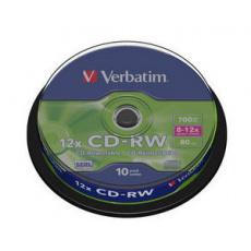 VERBATIM CD-RW 80min. 8-12x, 10 cake