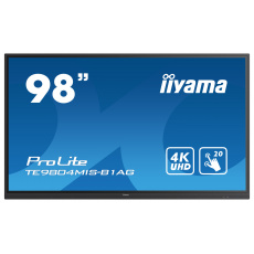 "98"" iiyama TE9804MIS-B1AG: IPS, 4K, 400cd/m2, 24/7, iiWare, WiFi, 4x Touch Pen, HDMI, USB-C, 20P"