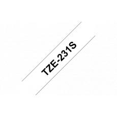 TZE-231S,  černá/bílá, 12mm