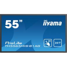 "55"" LCD iiyama ProLite TH5565MIS-B1AG -IPS,20dotyk.bodů,12ms,1100:1,400cd,FHD,24/7,USBmedplay,černý"