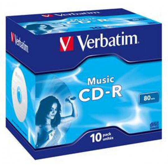 VERBATIM CD-R(10-pack)AudioLiveit!/Color/Jewel/80m