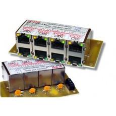 4portový napáj. panel s ochranou proti přepětí 30V, 100Mbit