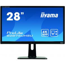 """28"""" LCD iiyama B2875UHSU-B1 - TN,1ms,300cd/m2/1000:1,4K,HDMI,DP,DVI,2xUSB,repro,výš.nastav,černý"""