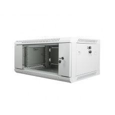 Nástěnný rack 19'' 4U 600X450mm šedý flat pack