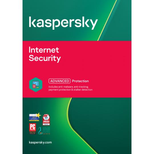 Kaspersky Internet Security 3x 1 rok Obnova