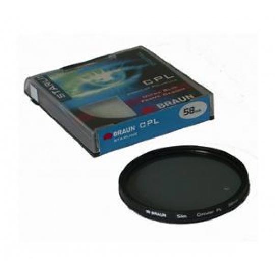 Braun C-PL StarLine polarizační filtr 62 mm