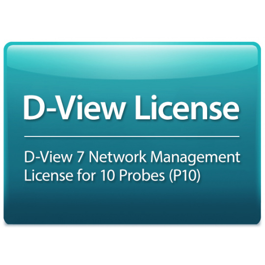D-Link D-View 7 License for 10 Probes