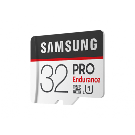 microSDHC 32GB Samsung PRO endurance + SD adaptér