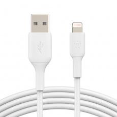 BELKIN kabel USB-A - Lightning, 2m, bílý