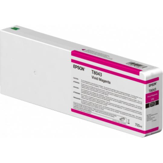 Epson Singlepack Vivid Magenta T804300 UltraChrome HDX/HD 700ml