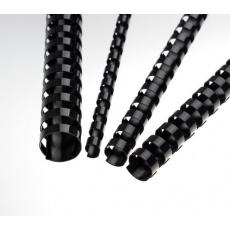 Plastové hřbety 12,5 mm, černé