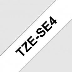 TZ-SE4,  bílá / černá - security tape