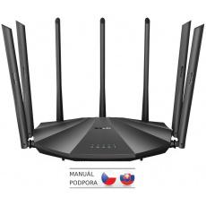 Tenda AC23 WiFi AC Router 2100Mb/s, 1x GWAN, 3x GLAN, VPN, IPv6, 7x 6dBi, 4x4 MU-MIMO, CZ App AC2100