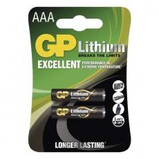 GP FR03, AAA, mikrotužka, 2ks, lithiová baterie