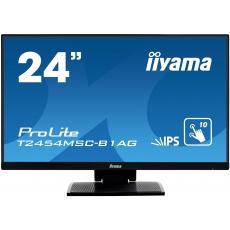 """24"""" iiyama T2454MSC-B1AG - IPS,FullHD,5ms,250cd/m2, 1000:1,16:9,VGA,HDMI,repro."""