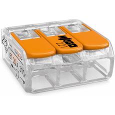 Elektro WAGO Spojovací svorka COMPACT pro všechny druhy vodičů, Max. 4 mm², 3 vodiče s páčkami