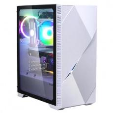 case Zalman miditower Z3 Iceberg White, E-ATX/mATX/Mini-ITX, průhledný bok, 2x ARGB vent., bez zdroj