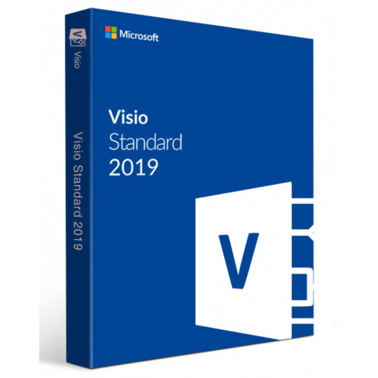 Visio Std 2019 Win Slovak Medialess