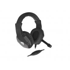 Herní stereo sluchátka Genesis Argon 100, černé, 1x jack 4-pin