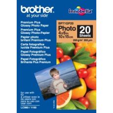 Brother papír BP71GP20, 20 listů, 10x15cm Premium Glossy, 260g