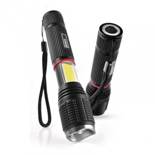 LED svítilna P3111, 5W 230Lm +3W COB + magnet