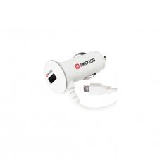 SKROSS Midget Car charger 1x USB 2.1A + Micro USB