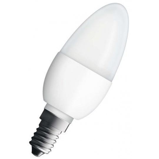 Osram LED žárovka E14  5,7W 2700K 470lm Value B40-svíčka matná