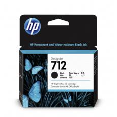 HP 712 Inkoustová náplň černá (80ml); 3ED71A
