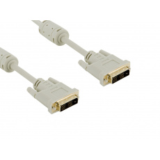 4World Kabel DVI-D 18+1M-18+1M 3.0m Gray
