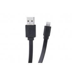Kabel AVACOM LIG-120K USB - Lightning, 120cm, černá