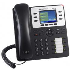"Grandstream GXP2130, 2,8"" LCD bar. displej, 3 SIP účty, 4 prog. tl., 8 BLF, BT, dual Gbit port, PoE"
