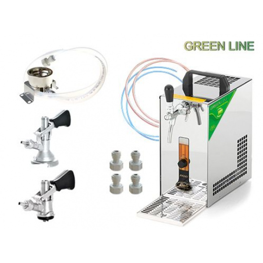 PYGMY 20/K Green Line + 2x naražeč (Bajonet a Plochý) a sanitační adaptér bajonet set