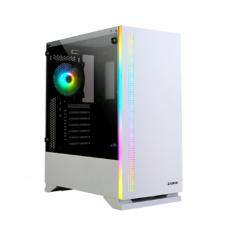 case Zalman miditower S5 Black, ATX/mATX/Mini-ITX, bez zdroje, 1×RGB ventilátor, USB3.0, bílá